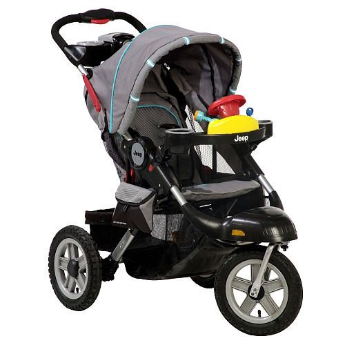 Tackle any terrain with the Jeep Liberty Limited All Terrain 3 Wheel Stroller