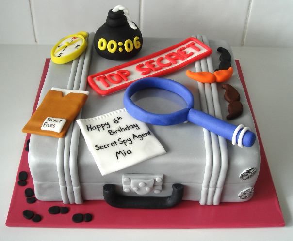 Swell Spy Party Cake This Is A Great Idea For Our Next Spy Party All Birthday Cards Printable Giouspongecafe Filternl
