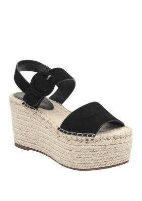 50d382d389a5 Marc Fisher Ltd Women's Rex Espadrille Wedge Sandals - Black - 9.5M ...