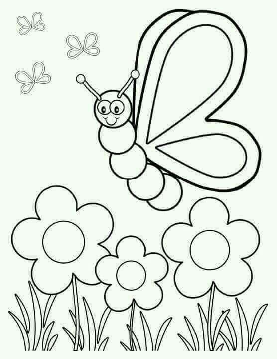 primavera | Primavera | Pinterest | Mariposas para colorear, Colores ...