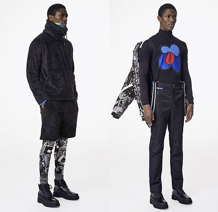 8a324e2a3539 Marc by Marc Jacobs 2015-2016 Fall Autumn Winter Mens Lookbook Presentation  - Denim Jeans Jumpsuit Rollneck Turtleneck Poncho Abstract Pop Art Prints  ...