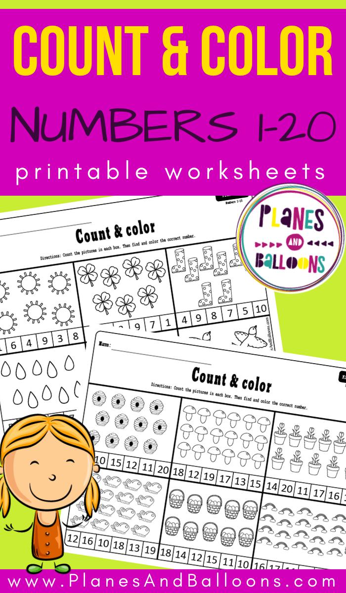 Spring Count And Color Numbers 1 20 Counting Activities Kindergarten Spring Math Worksheets Counting Activities Preschool [ 1200 x 700 Pixel ]