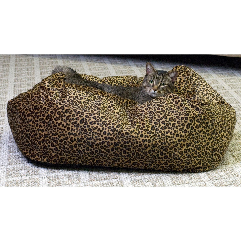 K&H Leopard Cat Cuddle Cube Cat Bed Cat cuddle, Cat bed