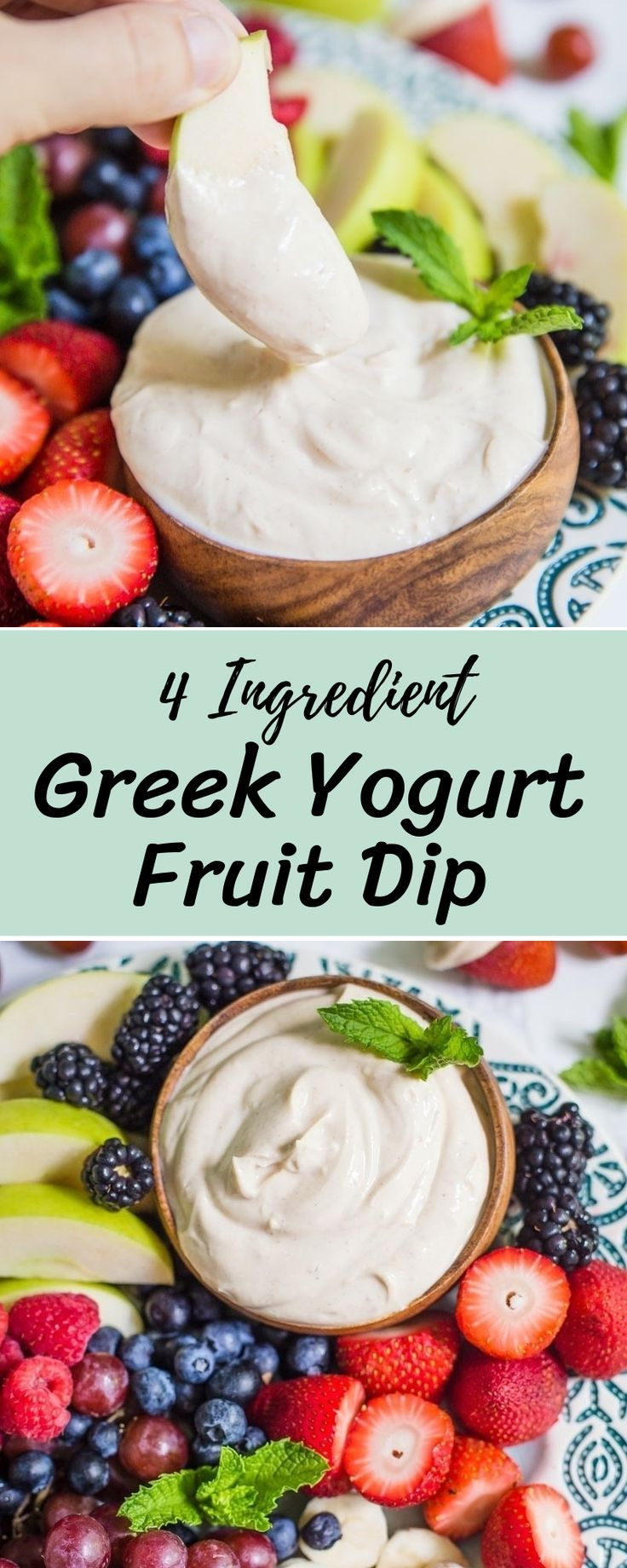4 Ingredient Greek Yogurt Fruit Dip Recipe Healthy Meal