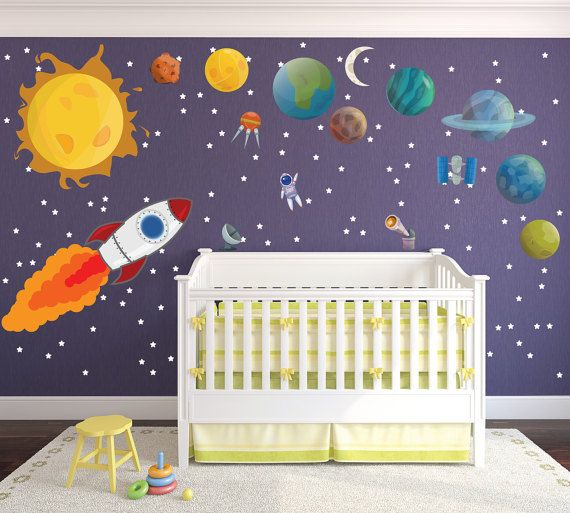 Cute Childrenu0027s Solar System Wall Decals / Extra Large