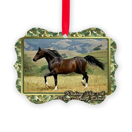 morgan horse christmas ornament