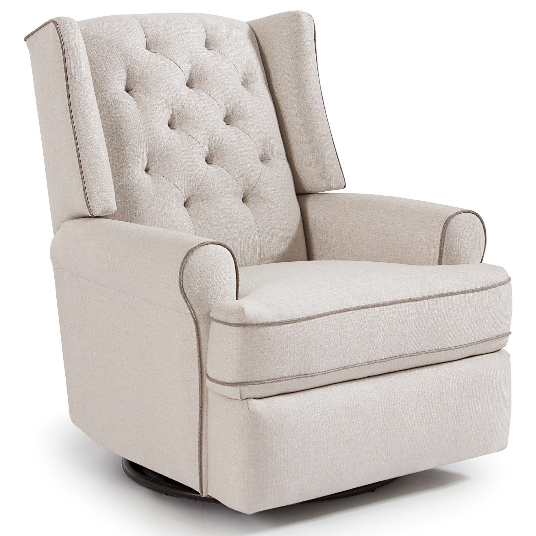 recliner cotton glider wingback washed linen media grey french