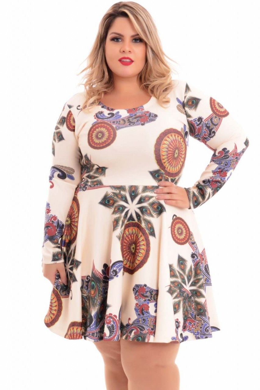 Vestido Sublimado Plus Size