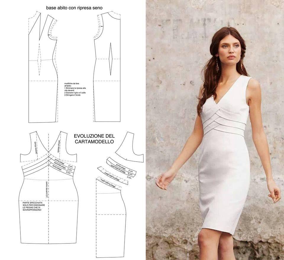Blanco elegante | PATRONES | Pinterest | Vestidos, Costura y ...