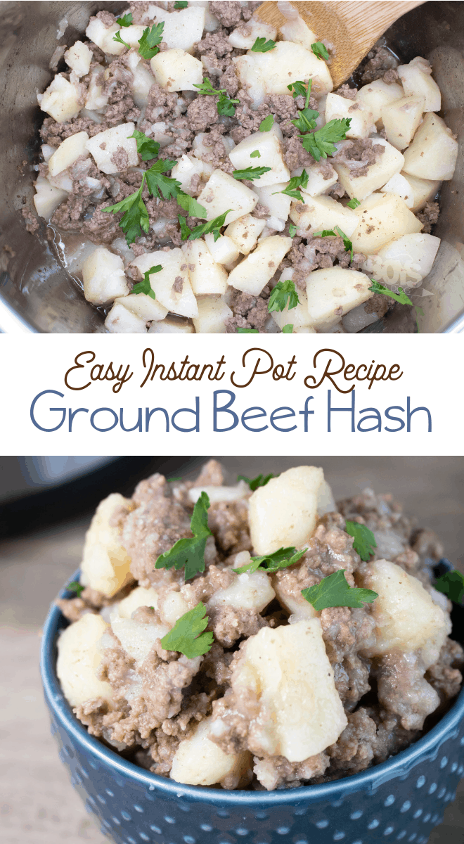 Instant Pot Ground Beef Hash Is Comfort Food At Its Finest Packed With Flavors That Your Hungry Famil Beef Recipes For Dinner Ground Beef Instant Pot Recipes