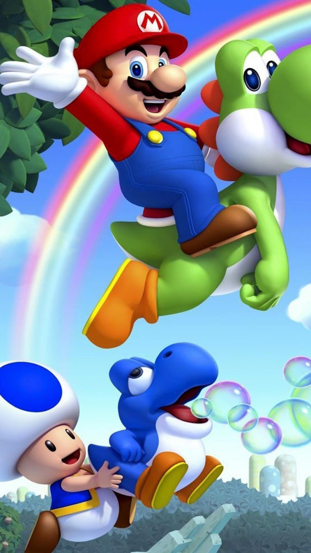 Lol guys look at toads blue yoshi Mario, Super mario run