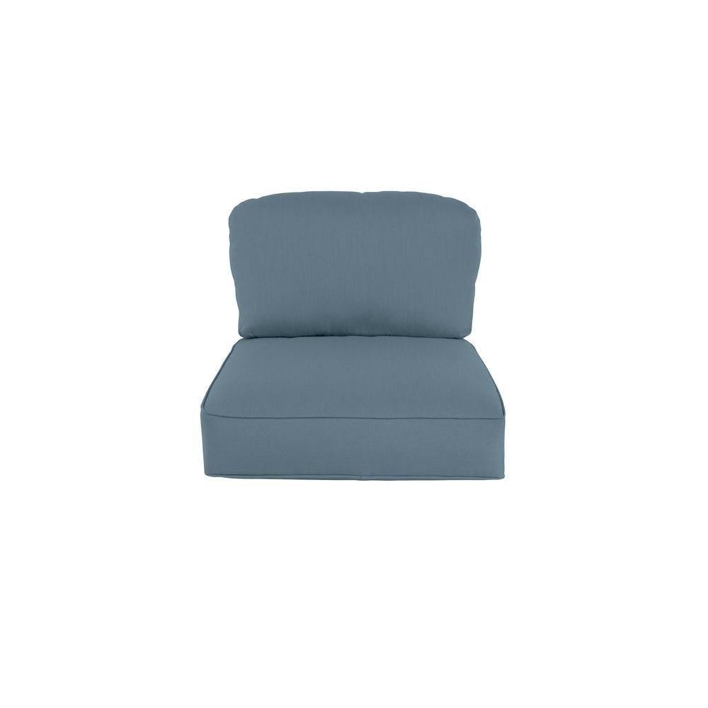 Brown jordan northshore replacement outdoor lounge chair cushion in denim denium