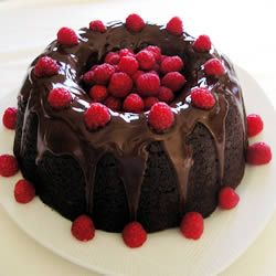 Too Much Chocolate Cake....Tastes Delicious With Chocolate Ganache & Fresh Raspberries