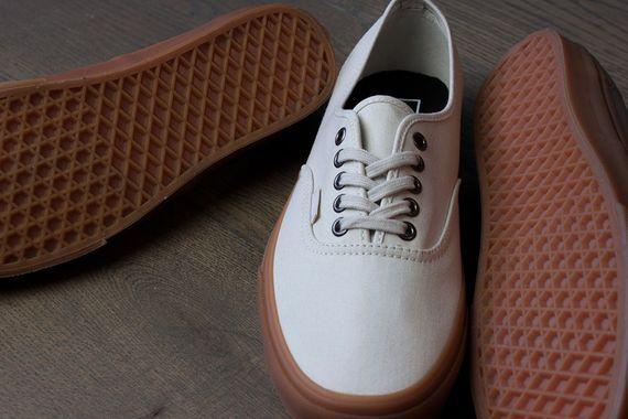Vans authentic white gum sole  06e0235f94c4b