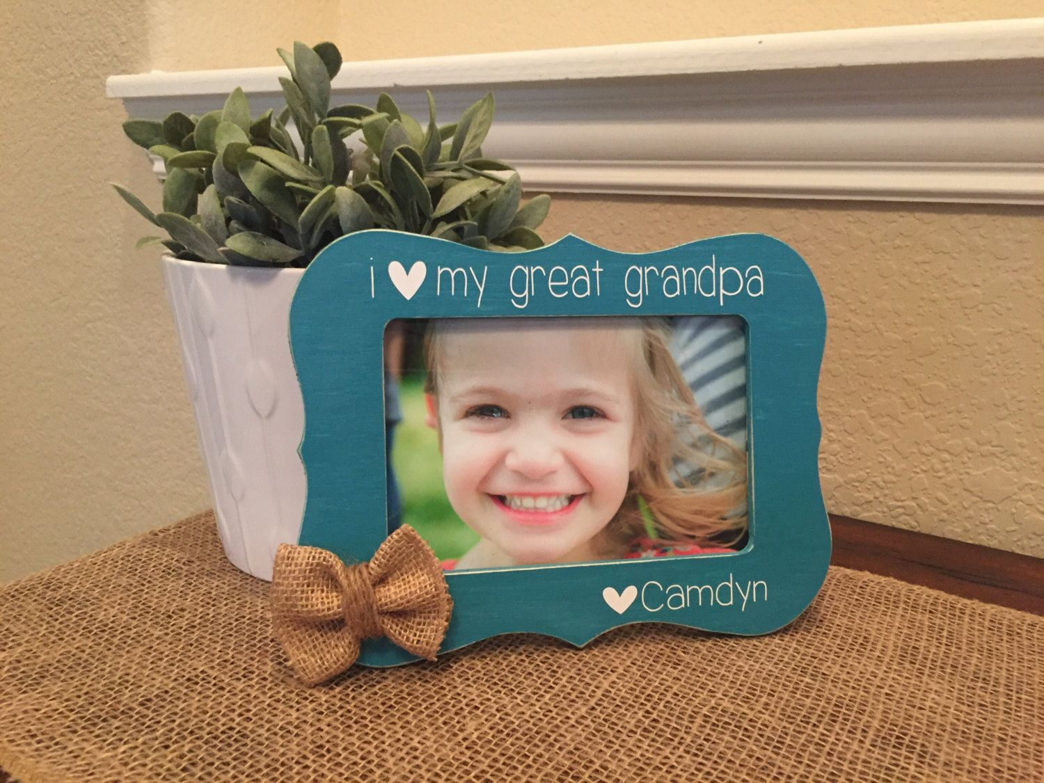 Great grandpa papa gift picture frame gift personalized godmother ...