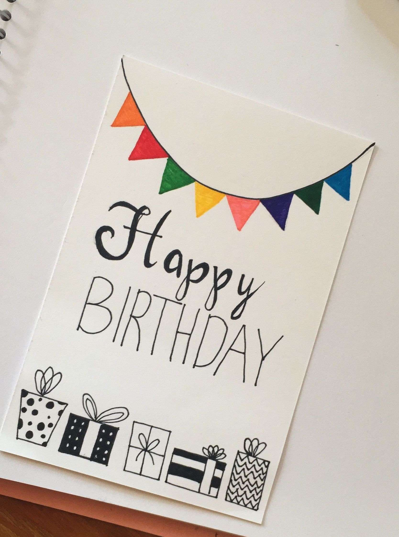 Happy Birthday With Images Birthday Card Drawing