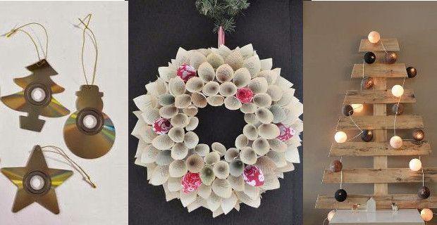 Cmo hacer adornos de navidad reciclados con lo que hay por casa