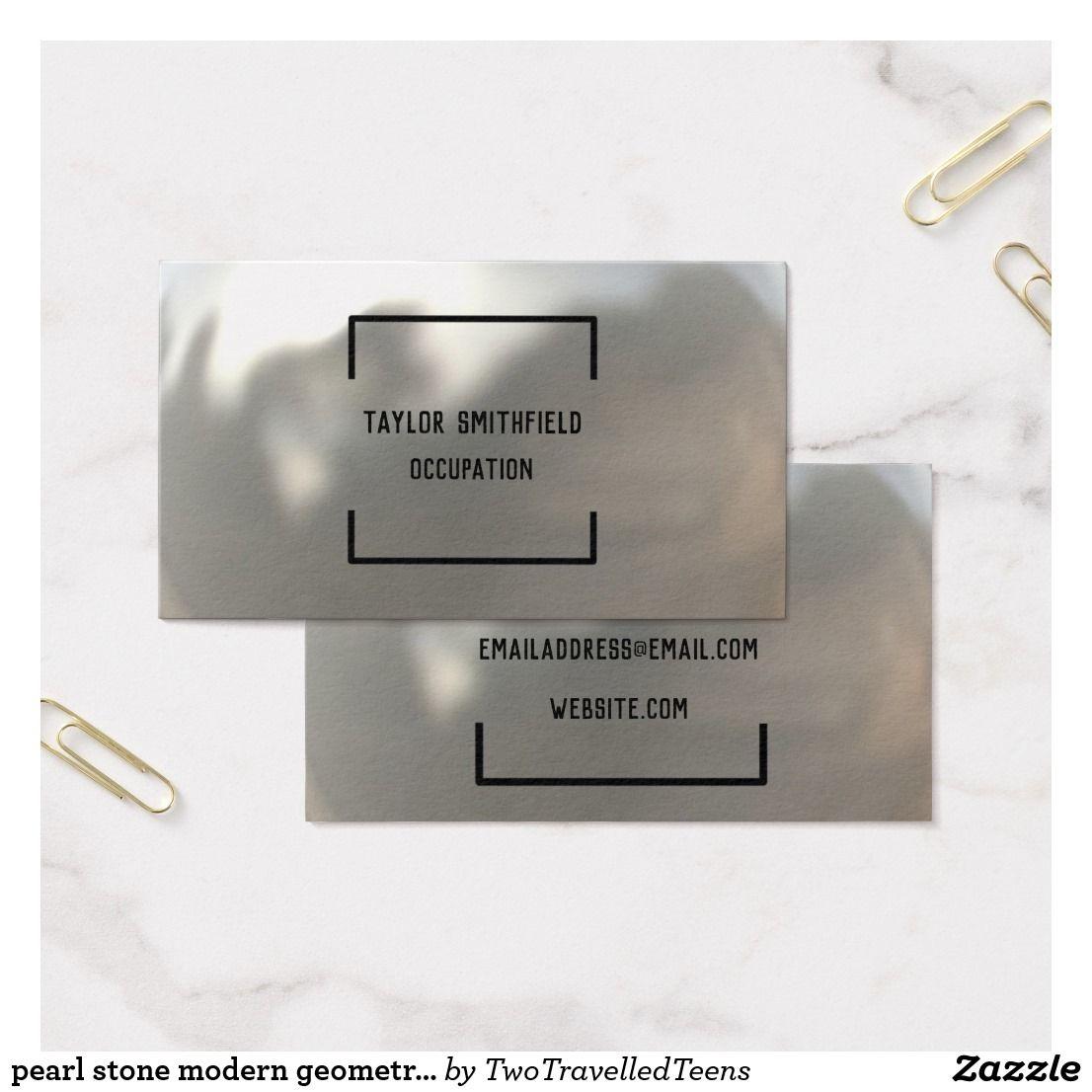 Pearl stone modern geometric texture business card | Pinterest ...