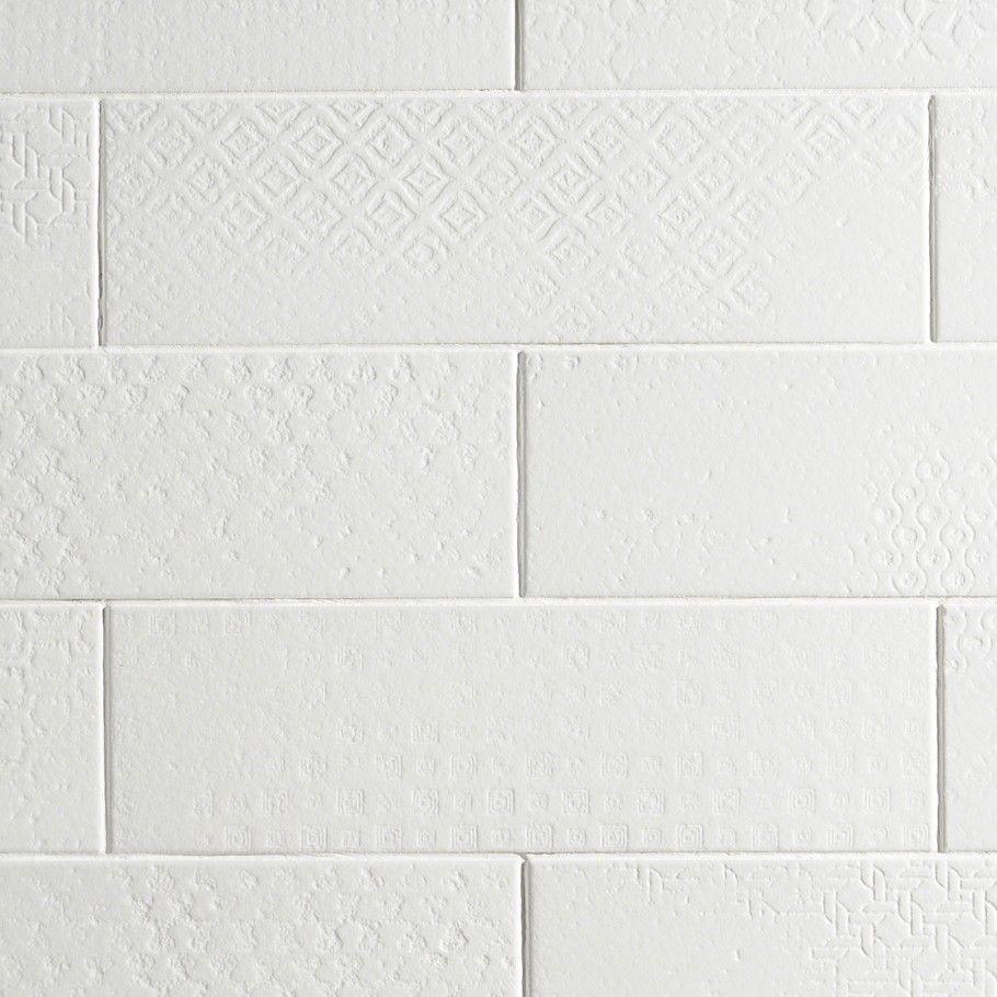 Tessuto White 4x12 Ceramic Matte Tile Textured Tile Backsplash Matte Tile White Tile Bathroom Walls