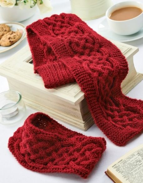 Cabled Winter Accessories Free Knitting Patterns Hats Cable