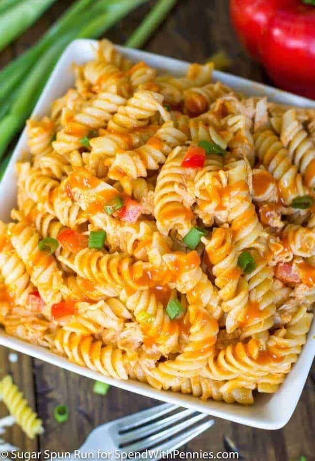 Buffalo Chicken Pasta Salad - Spend With Pennies