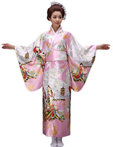 b3778bea10 Soojun Women s Elegant Traditional Japanese Kimono Yukata...