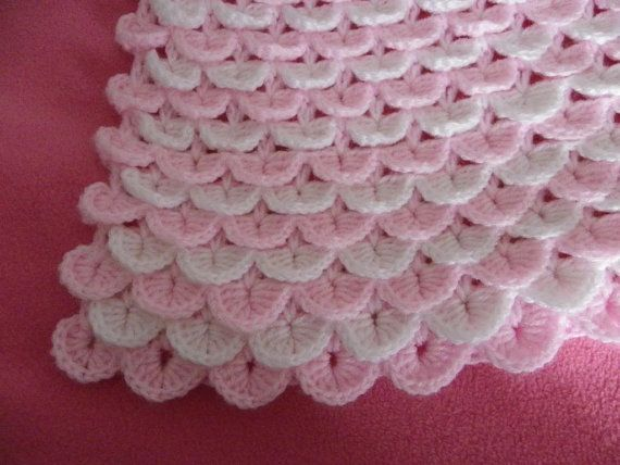 Crochet pattern for baby cot/pram blanket PDF by craftypeople2010, £2.50