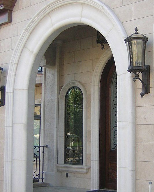 Lightweight Cast Stone Entry Window And Door Surround Stone Exterior Houses Exterior Stone Cast Stone