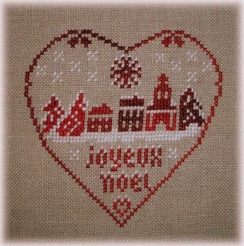 Coeur de Noël (peut se faire avec un seul rouge...)
