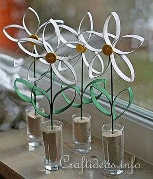 8 easy toilet paper roll crafts shes crafty pinterest paper paper towel roll crafts paper daisies this cute craft from craft ideas turns trash into fun mightylinksfo
