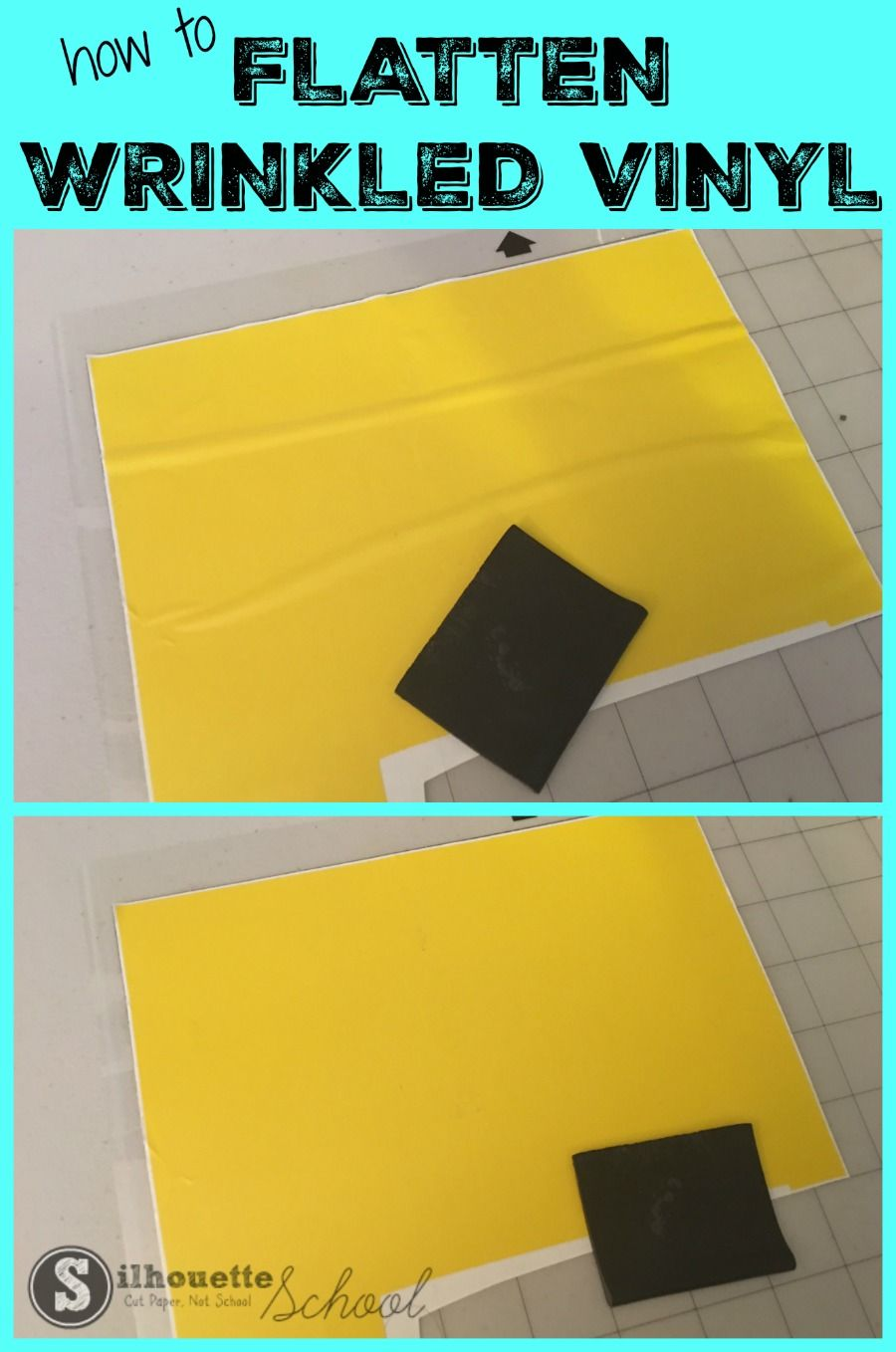 How To Fix Wrinkled Vinyl Silhouette Hack For Removing Wrinkles And Bubbles Cricut Vinyl Silhouette Vinyl Silhouette School