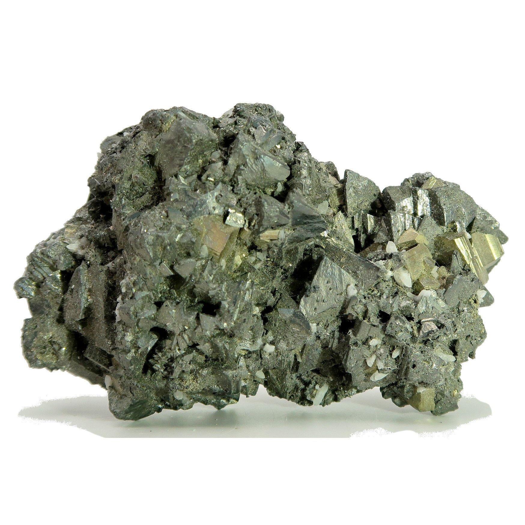 Pyrite Mineral 04 Tetrahedral Quartz Fools Gold Cluster Specimen Rough