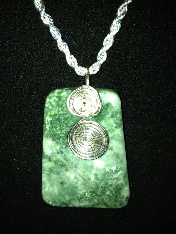 Tree agate shield pendant silver plated wire silver plated 18 tree agate shield pendant silverplated wire by likes2read on etsy 3000 aloadofball Image collections