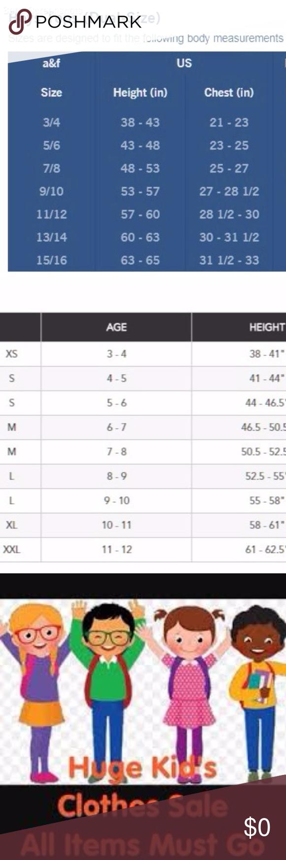 Abercrombie Kids Size Chart : abercrombie, chart, Abercrombie, Children's, Place, Charts, Chart, These, Pretty…, Kids,, Childrens, Place,