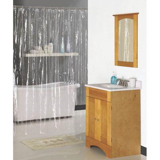 Homebasix Vinyl Shower Curtain   AllModern