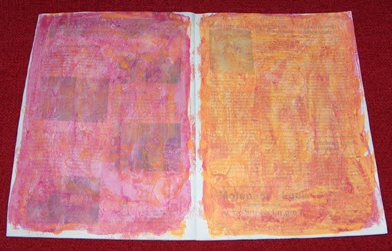 Caatje's Artsy Stuff: Easy Peasy Journal Tutorial - Part one: backgrounds