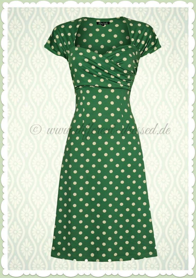 Jahre Punkte Vintage King Ballroom 50er Partypolka Kleid Louie RL5j43A
