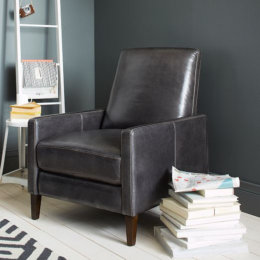 Sedgwick Recliner Leather West Elm