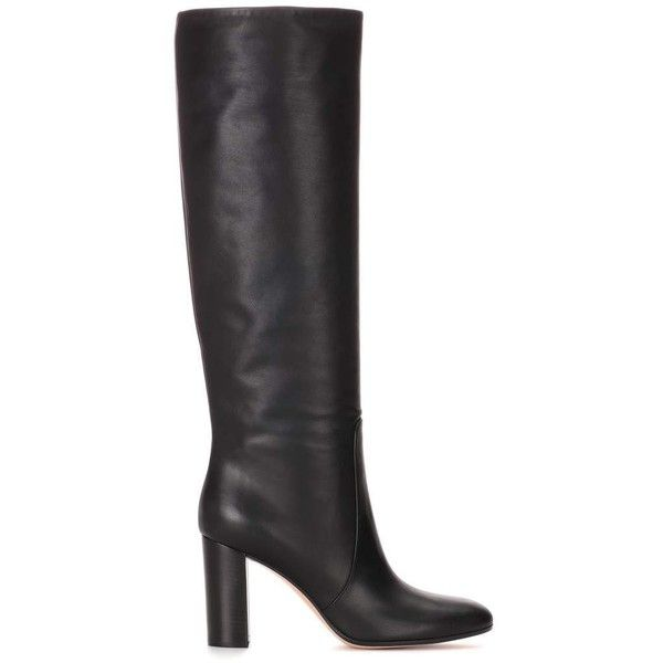Casalmo leather boots Gianvito Rossi (€1.195) ❤ liked on Polyvore featuring shoes and boots