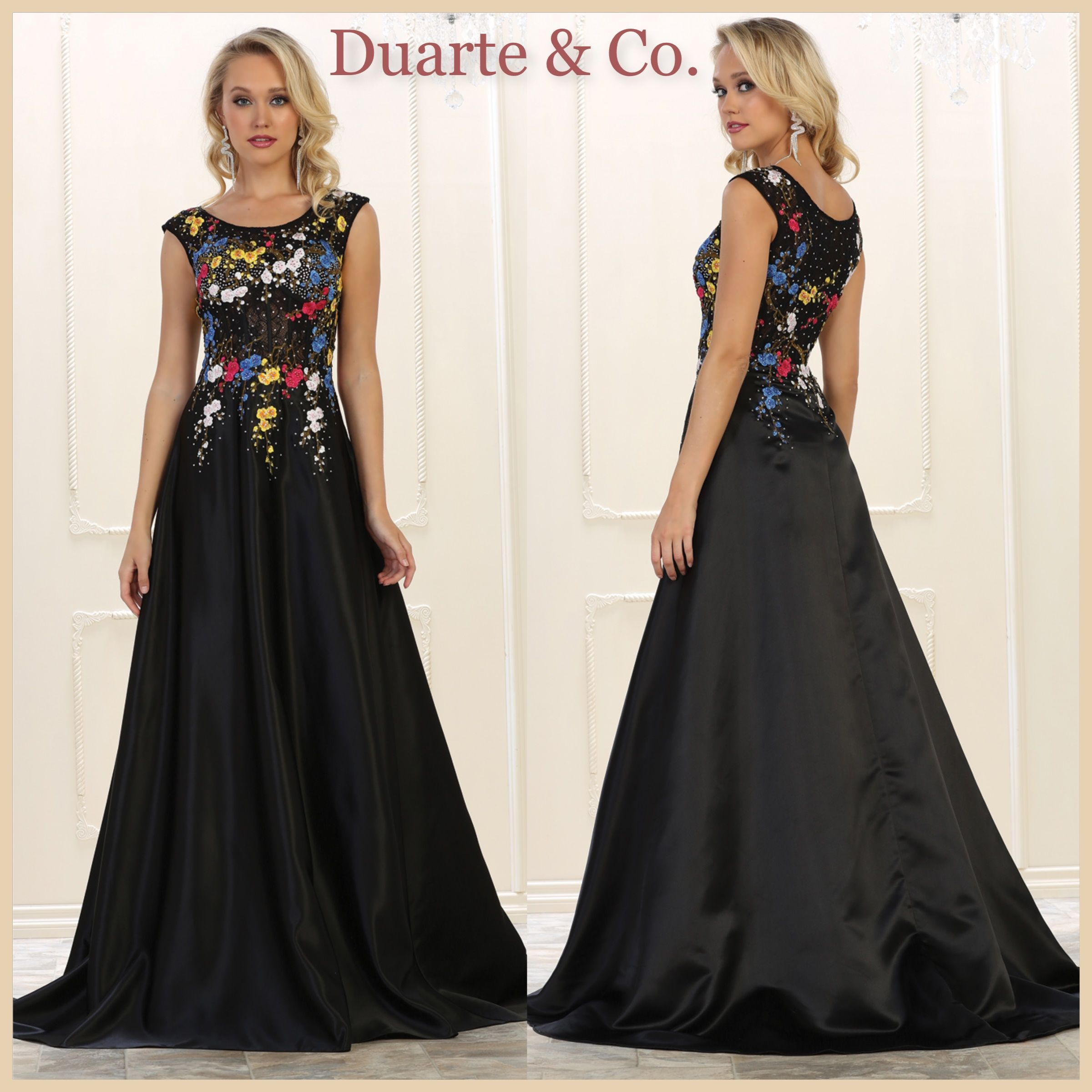 Satin Floral Ball Gown W/Plus Sizes - RQ7587 | Prom & Party Dresses ...