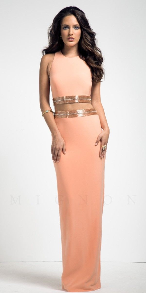 Long Two Piece Prom Dress Mignon VM1575 | Things I love | Pinterest