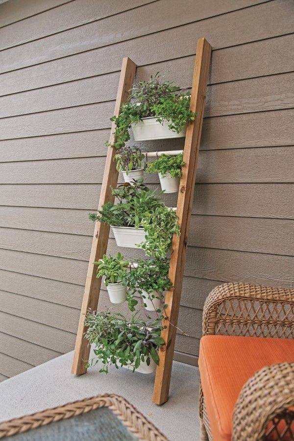 Photo of Herb Garden Head of DIY Project. These vertical herb gardens make the most of … – Diygarden…