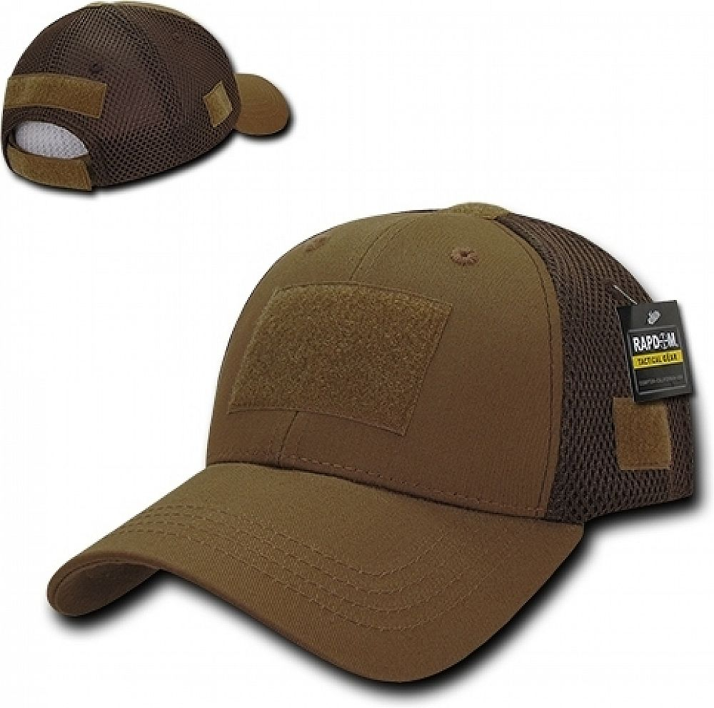 Rapdom Low Crown Mesh Tactical Operator Cap Coyote Brown Adjustable Tactical Operator Tactical Hat Tactical