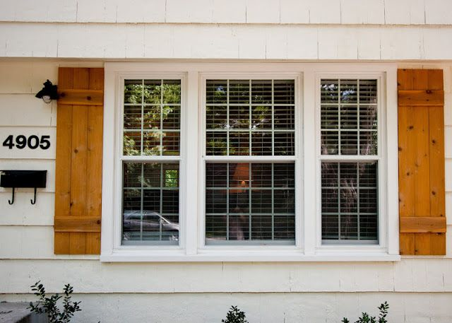 Diy wood shutters coordinately yours by julie blanner - Exterior wooden shutters for windows ...