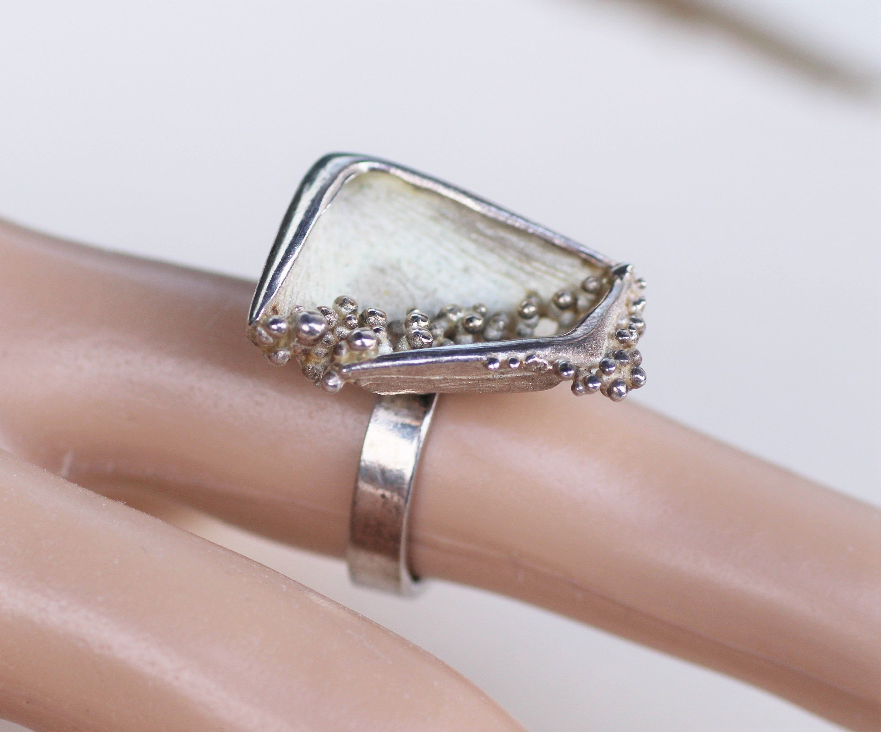 H C Ostrem Oxo Norway Vintage Scandinavian Norwegian Modernist Brutalist Organic Silver Sterling Ring In 2020 Jewelry Design Jewelry Sterling Silver Rings