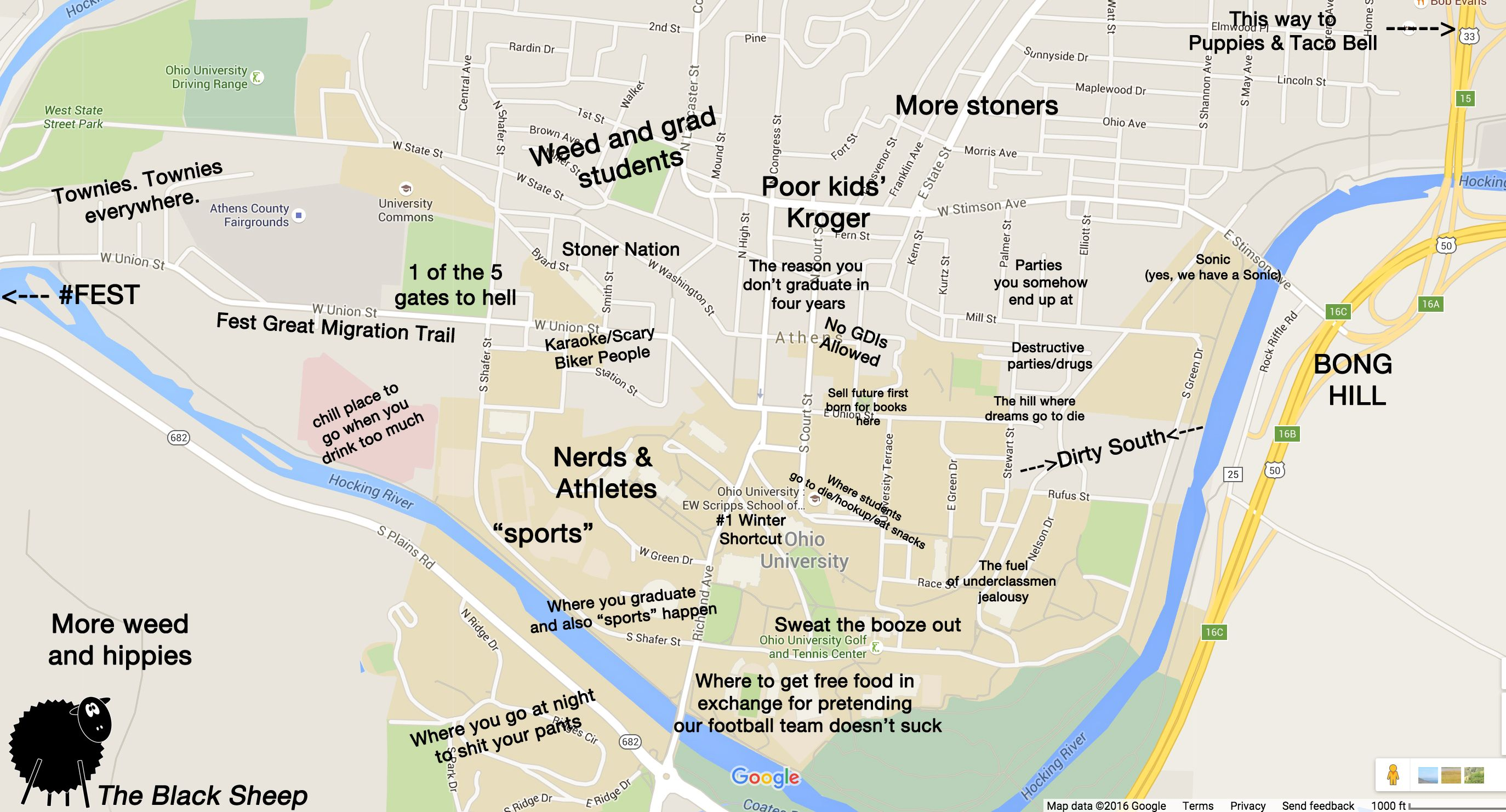 Pin By The Black Sheep On Judgmental Maps Of College Campuses