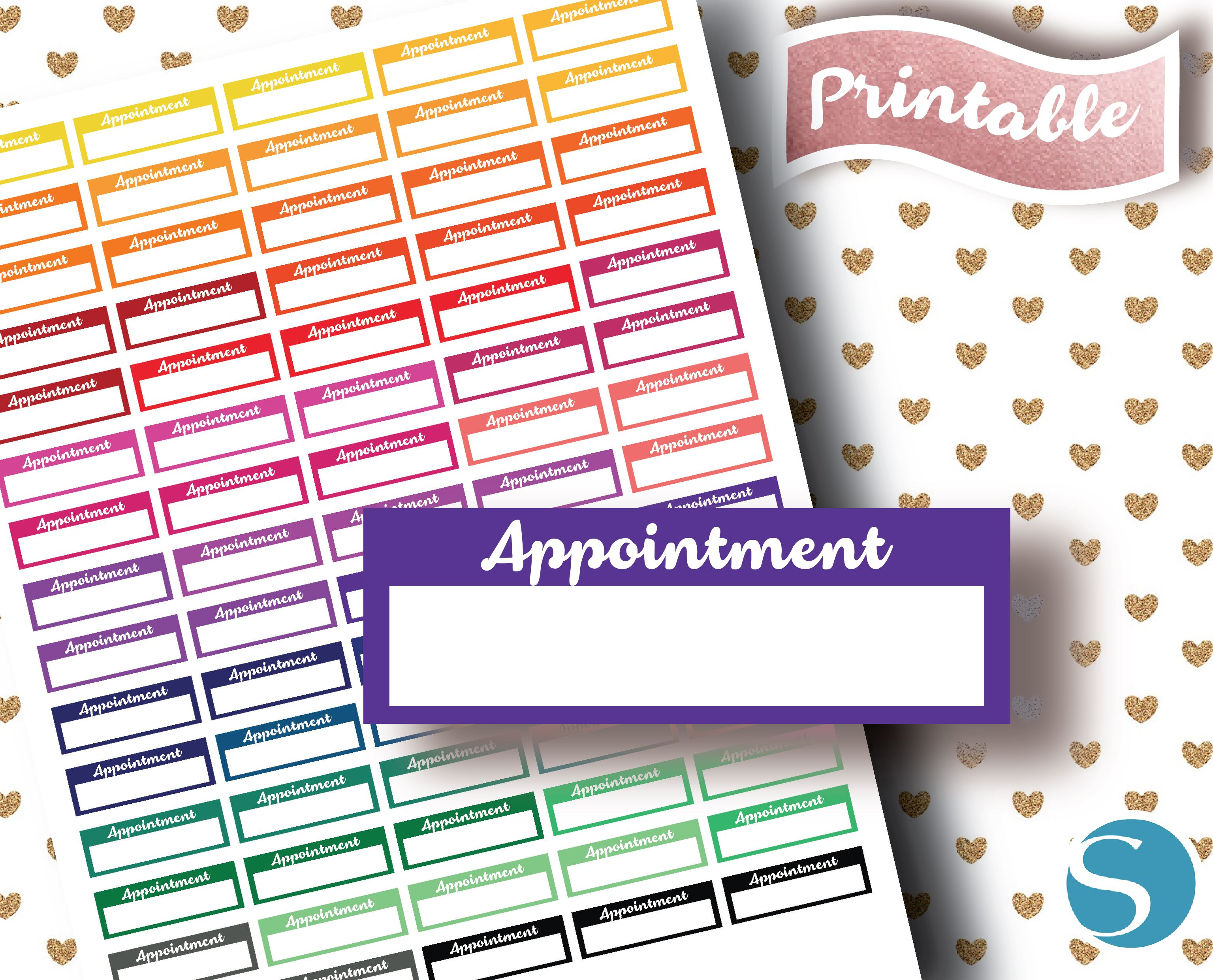 Appointment Banner  Erin Condren Basic Stickers  Cricut Png