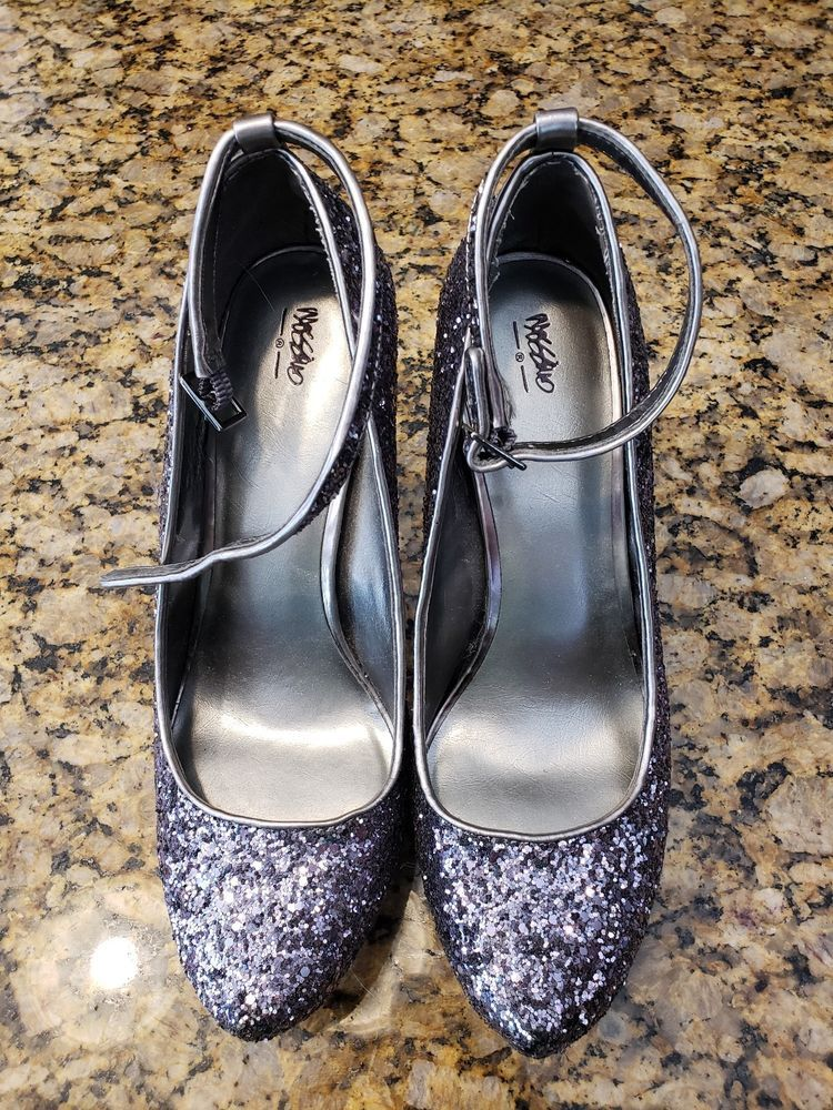 601f626dc99 Mossimo High Heel Shoes sparkle heels cute grey blue club heels party heel   fashion  clothing  shoes  accessories  womensshoes  heels (ebay link)