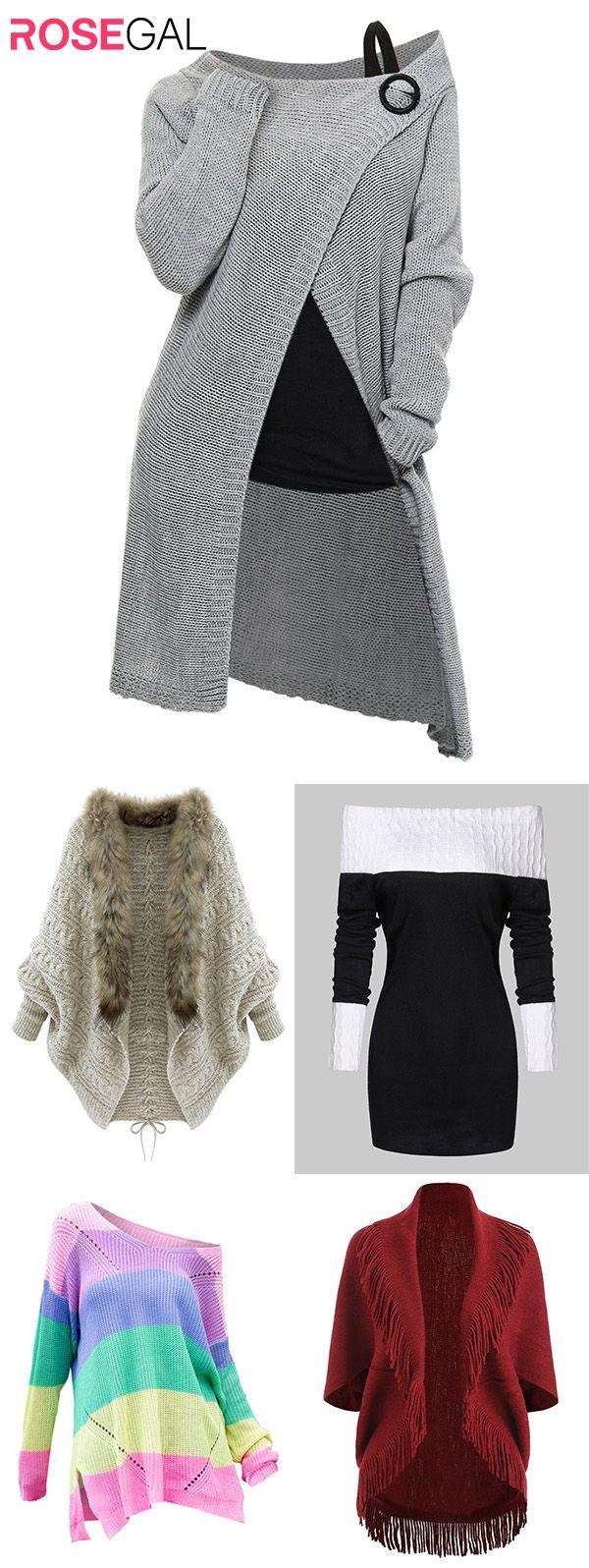 Rosegal femmes Automne Tenues Longues Pulls Idées de chandail de mode automne femme