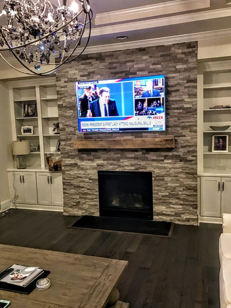 Grey Marble Stacked Stone Fireplace Stone Splitface Fireplace